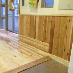 大阪市港区 波除学園 多目的室 床材改装工事